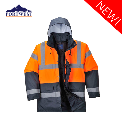 Hi-Vis Two Tone Traffic Jacket S467