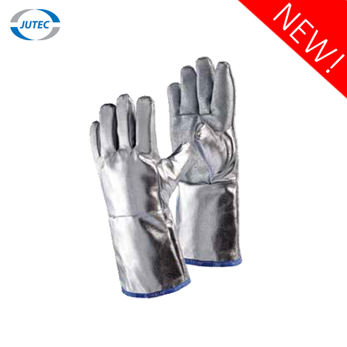 Glove made of glass fabric with silicone coating and preox-arami