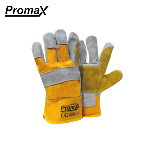 Promax Leather Working Gloves -Double palm