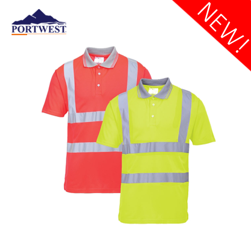 Hi-Vis Short Sleeve Polo S477